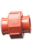 Isolated pipe conector Royalty Free Stock Image