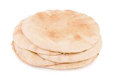 Isolated pita bread Royalty Free Stock Photography