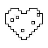 Isolated pixel heart design stock illustration