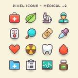 Pixel icons-medical 2. Isolated Pixel icons-medical set royalty free illustration