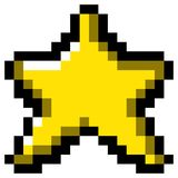 Isolated pixeled star. On a white background, Vector illustration Royalty Free Illustration