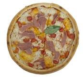 Isolated pizza prosciutto Stock Image