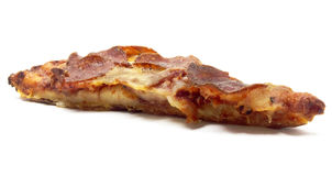 Isolated Pizza Slice. On a white background Royalty Free Stock Images