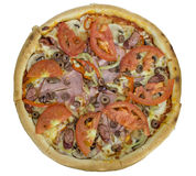 Isolated pizza Stock Images