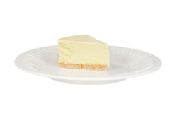 Isolated plain cheesecake Stock Image