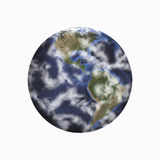 Isolated planet Earth. With clouds and America against white background royalty free stock photography