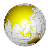 Planet Globe Earth 3D isolated Royalty Free Stock Image