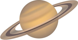 Isolated planet series 15. Illustration of planet saturn Stock Photo