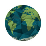Isolated planet sphere design. Planet sphere icon. Earth world map and cartography theme. Isolated design. Vector illustration Royalty Free Stock Image