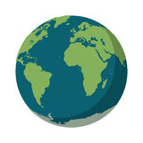 Isolated planet sphere design. Planet sphere icon. Earth world map and cartography theme. Isolated design. Vector illustration Stock Photography