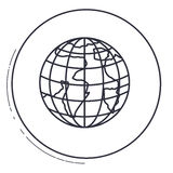Isolated planet sphere design. Planet sphere icon. Earth world map and cartography theme. Isolated design. Vector illustration Royalty Free Stock Images