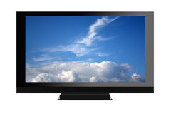 Isolated plasma tv Royalty Free Stock Photos