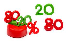 Isolated plasticine chart the Pareto principle Stock Images