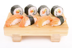 Isolated plate of sushi Royalty Free Stock Photos