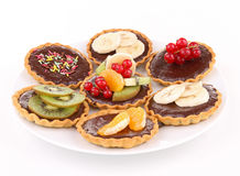 Isolated plate of tart Stock Photography