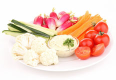 Isolated plate of vegetables Royalty Free Stock Photo