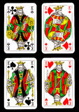 Isolated playing cards Royalty Free Stock Photography