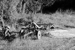 Isolated plow in the wood Royalty Free Stock Images
