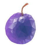 Isolated plum Royalty Free Stock Photos
