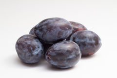 Isolated plums stock image