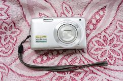 Isolated Point and Shoot Camera stock photography