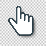 Isolated Pointer Hand Cursor Icon. Vector illustration Stock Photo