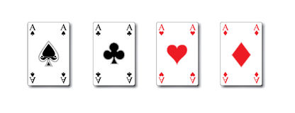 Isolated poker playing cards / aces in vector Stock Image