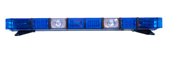 Isolated police. Emergency light roof bar stock photo