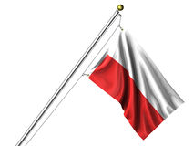 Isolated Polish Flag Stock Photo