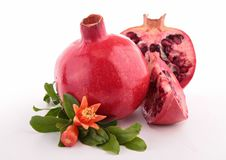 Isolated pomegranate Stock Photo