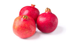 Isolated pomegranates Stock Photos