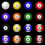 Isolated Pool balls set. A game theme: Isolated Pool balls set Royalty Free Stock Photo