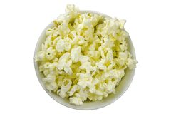 Isolated popcorn bowl stock photo
