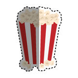 Isolated popcorn snack. Icon  illustration graphic design Royalty Free Stock Photo
