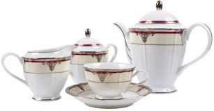 Isolated porcelain tea set Stock Images