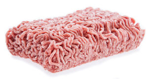 Isolated portion of Minced Meat Stock Photo