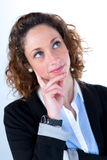 Isolated portrait of a beautiful young executive woman Royalty Free Stock Photos