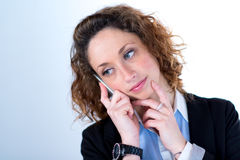 Isolated portrait of a beautiful young executive woman Stock Images