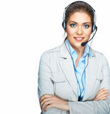 Isolated portrait of business woman, customer serv Stock Photography