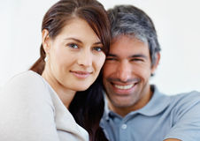 Isolated portrait of a happy mature couple Royalty Free Stock Photography