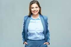 Free Isolated Portrait Of Smiling Beautiful Business Woma Stock Photos - 109240193