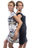 Isolated portrait of the sisters Royalty Free Stock Photo