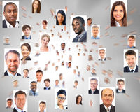Isolated portraits of business people Royalty Free Stock Images