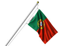 Isolated Portuguese Flag Royalty Free Stock Image