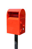 Isolated post box Stock Images
