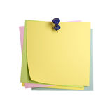 Isolated postit. Image 3d of classic postit isolated on white Royalty Free Stock Photo