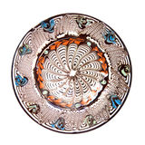 Isolated pottery plate. On white background Stock Images