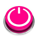 Isolated power button Stock Image