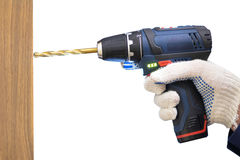 Isolated power drill Royalty Free Stock Photo