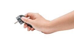 Isolated power plug in hand Stock Photography